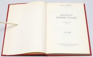 Zagórski, Monety dawnej Polski. Tablice [reprint 1969/1845] - b. dobra oprawa