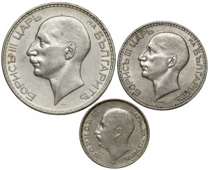 Bułgaria, 20, 50 i 100 leva 1934-1940, zestaw (3szt)