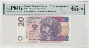 20 złotych 2012 - AA