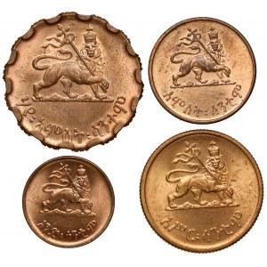 Etiopia, Haile Selassie I, od 1 do 25 Matonas 1944 - zestaw (4szt)