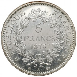 Francja, 5 franków 1875 A-Paryż - małe A