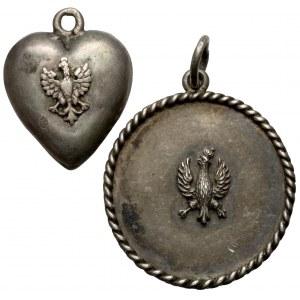 Biżuteria patriotyczna - zestaw wisiorków (2szt)