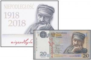 20 złotych 2018 - Niepodległość nr 7810 - w folderze PWPW