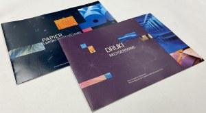 PWPW, zestaw folderów - Papier i druki wartościowe, Druki akcydensowe (2szt)