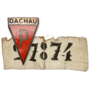 Odznaka pamiątkowa Dachau + numer obozowy (?)