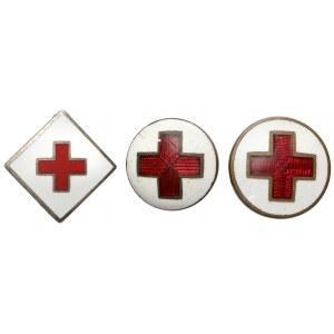 Oznaki Czerwonego Krzyż - zestaw (3szt)