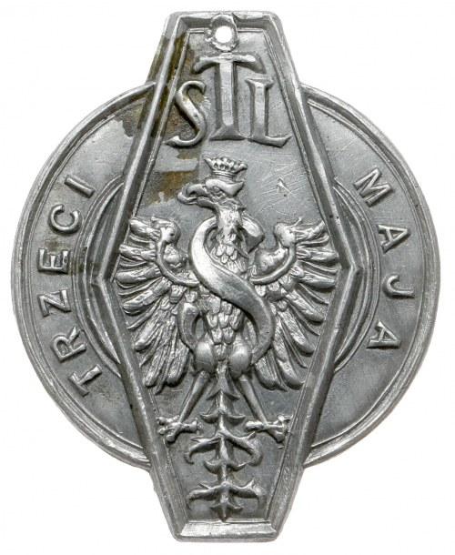 Znaczek na szpilce, TSL - Trzeci Maja - z orłem Zygmunta Starego