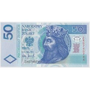 50 złotych 1994 - ZA - bardzo rzadka seria zastępcza