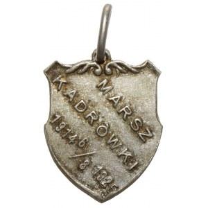 Żeton pamiątkowy, MARSZ KADRÓWKI 1914 6/8 1925