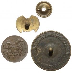 Odznaka za Ofiarną Pracę i odznaki Pożyczki Narodowej 1933 - zestaw (3szt)