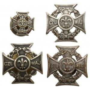 PRL, Krzyż harcerski - zestaw (4szt)