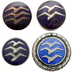 Zestaw odznak szybowcowych - zestaw (4szt)