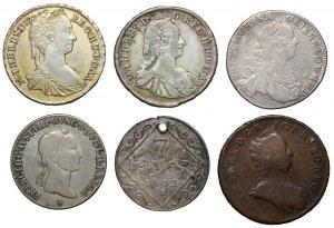 Austro-Węgry, od Poltury do 17 krajcarów (6szt)