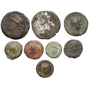 Zestaw monet antycznych - Grecja i Rzym (7szt)