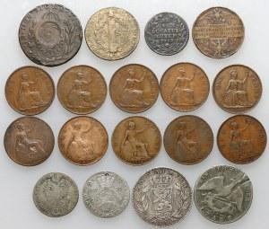 Anglia, Belgia, Polska, Prusy... mix monet (18szt)