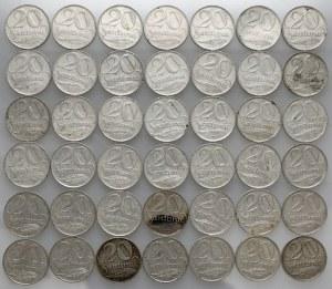 Łotwa, 20 santimu 1922 - duży zestaw (42szt)