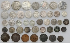 Niemcy, srebrne i miedziane monety XVII-XIX wiek (42szt)