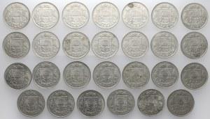 Łotwa, 50 santimu 1922 - duży zestaw (28szt)