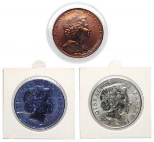 Wielka Brytania, 5 funtów 2000 i 5 $ 2004, TYTAN okolicznościowe (3szt)