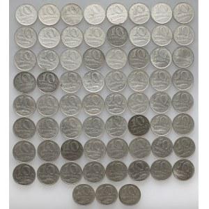 Łotwa, 10 santimu, różne roczniki - duży zestaw (64szt)