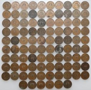 Łotwa, 2 santimi, różne roczniki - duży zestaw (96szt)