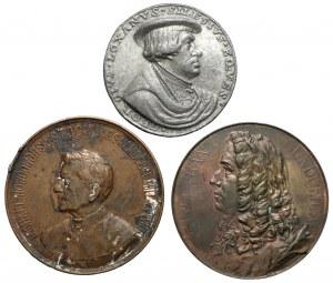 Nowodworski, Śląsk, Gundulic, zestaw medali (3szt)