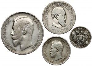 Rosja, 10 kopiejek - Rubel 1821-1901 (4szt)