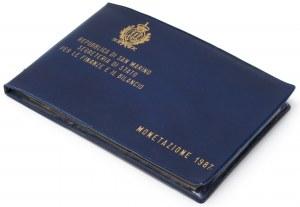 San Marino, zestaw rocznikowy 1987 (10szt)