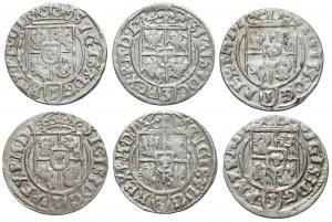 Półtoraki Zygmunta III Wazy - 1620-1625 - b.ładne (6szt)