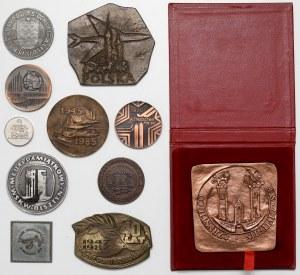 PRL, zestaw medali i plakiet różnych (11szt)