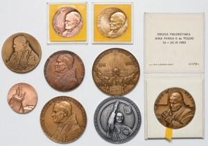 Medale, Jan Paweł II, zestaw (9szt)