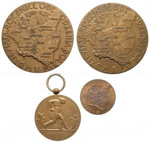 Seria medali na 10-lecie niepodległości 1918-1928 (4szt)