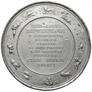 Medal, 400-lecie urodzin Mikołaja Kopernika 1873