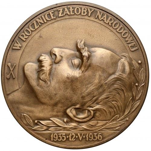 Medal, Rocznica śmierci Józefa Piłsudskiego 12.V.1936