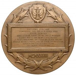 Medal, 100-lecie Banku Polskiego, Lubecki-Jelski, 1928