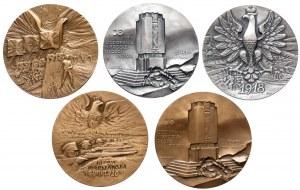 Piłsudski - zestaw tematyczny medali (5szt)