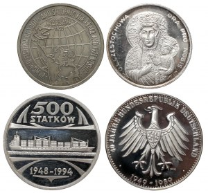Medale Wałęsa, Stocznia... w tym 51 g Ag.999 (4szt)