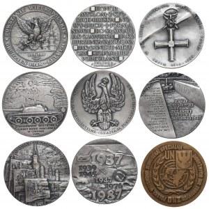 Wodzowie i tematyka wojenna - zestaw medali (9szt)