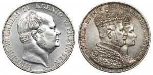 Preussen, Wilhelm I, Taler 1860 i 1861 - lot (2)