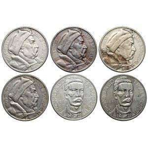 10 złotych 1933 Sobieski i Traugutt (6szt)
