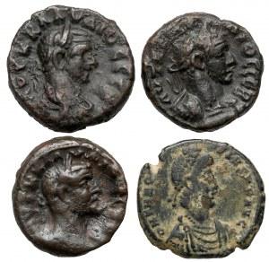 Prowincje rzymskie - zestaw tetradrachm z Aleksandrii i Follis (4szt)