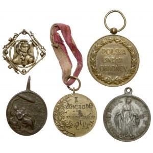 Zestaw medali i medalików patriotycznych (5szt)