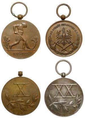 Medale nagrodowe II RP, w tym srebro (4szt)