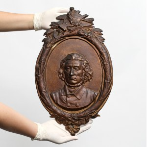 Medalion Adam Mickiewicz - DUŻY (48 x 28.5 cm)