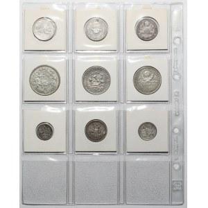 Rosja, RSFSR, ZSRR, Litwa, srebrne monety (9szt)