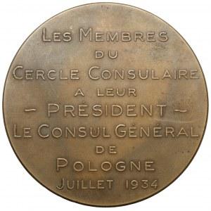 Georges Vaxelaire - Konsul Generalny Polski w Brukseli, 1934