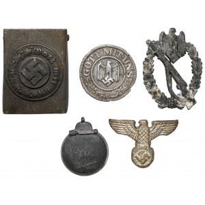 III Rzesza - klamra, odznaki itp. (5szt)