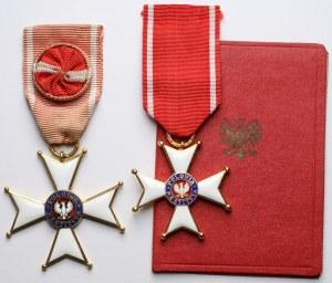 Order Odrodzenia Polski - krzyż kawalerski i oficerski, wraz z legitymacją