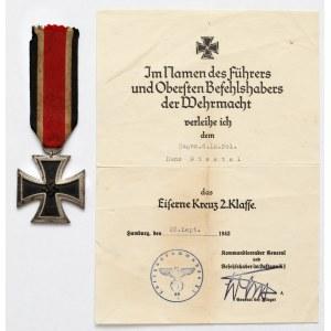 III Rzesza, Żelazny Krzyż II klasy + nadaniem
