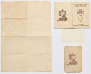 PRL, Zestaw legitymacji i dyplomów uprawniających do noszenia odznak i medali